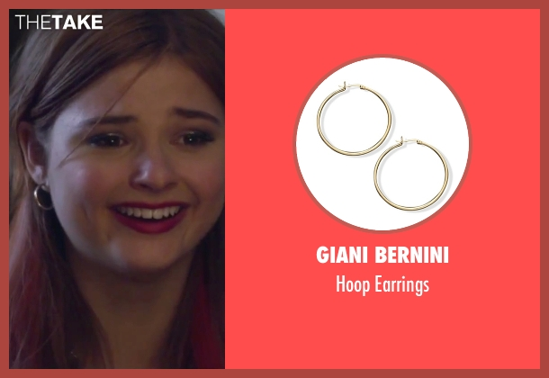 Giani Bernini gold earrings from Jem and the Holograms seen with Stefanie Scott (Kimber)