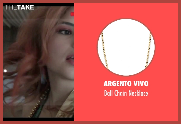 Argento Vivo gold necklace from Jem and the Holograms seen with Stefanie Scott (Kimber)