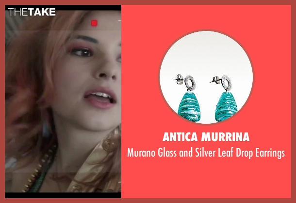 Antica Murrina green earrings from Jem and the Holograms seen with Stefanie Scott (Kimber)