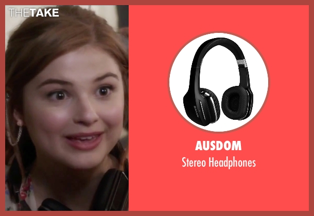Ausdom headphones from Jem and the Holograms seen with Stefanie Scott (Kimber)