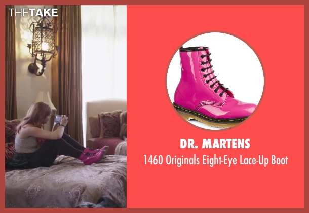 Dr. Martens pink boot from Jem and the Holograms seen with Stefanie Scott (Kimber)