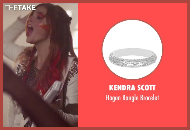 Kendra Scott silver bracelet from Jem and the Holograms seen with Stefanie Scott (Kimber)