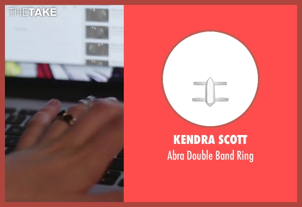 Kendra Scott silver ring from Jem and the Holograms seen with Stefanie Scott (Kimber)