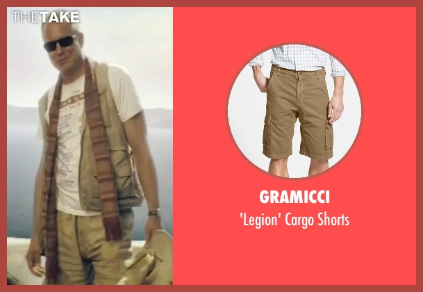 Gramicci beige shorts from Mamma Mia! seen with Stellan Skarsgård (Bill)