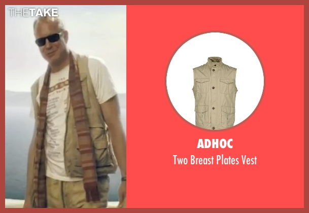 Adhoc beige vest from Mamma Mia! seen with Stellan Skarsgård (Bill)