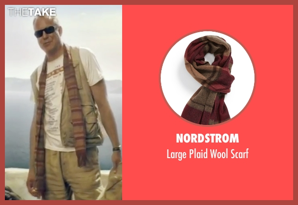 Nordstrom brown scarf from Mamma Mia! seen with Stellan Skarsgård (Bill)