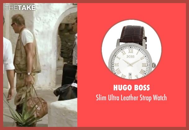 Hugo Boss brown watch from Mamma Mia! seen with Stellan Skarsgård (Bill)