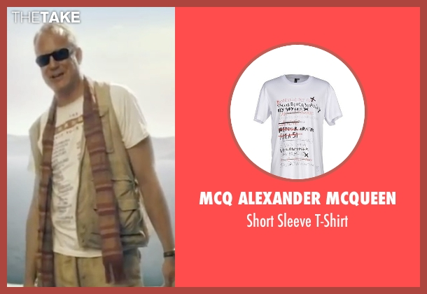 McQ Alexander McQueen white t-shirt from Mamma Mia! seen with Stellan Skarsgård (Bill)