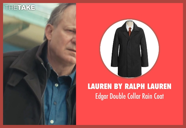 Lauren By Ralph Lauren black coat from Thor seen with Stellan Skarsgård (Erik Selvig)