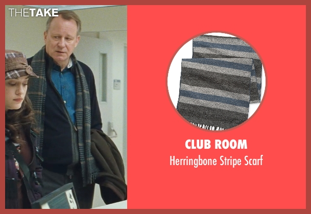 Club Room blue scarf from Thor seen with Stellan Skarsgård (Erik Selvig)