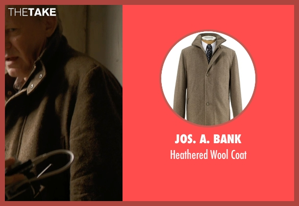 JoS. A. Bank brown coat from Thor: The Dark World seen with Stellan Skarsgård (Erik Selvig)