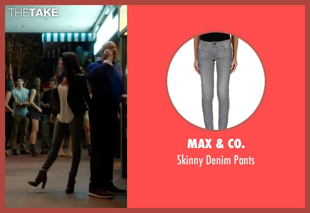 Max & Co. gray pants from Ballers seen with Stephanie Michaels (Taylor Cole)