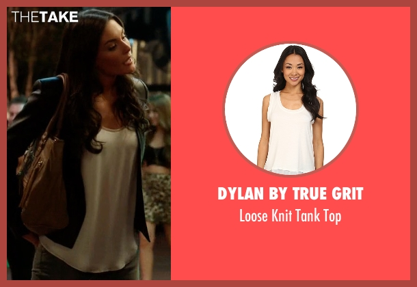 Dylan by True Grit white top from Ballers seen with Stephanie Michaels (Taylor Cole)