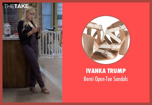 Ivanka Trump beige sandals from Fuller House seen with Stephanie Tanner (Jodie Sweetin)