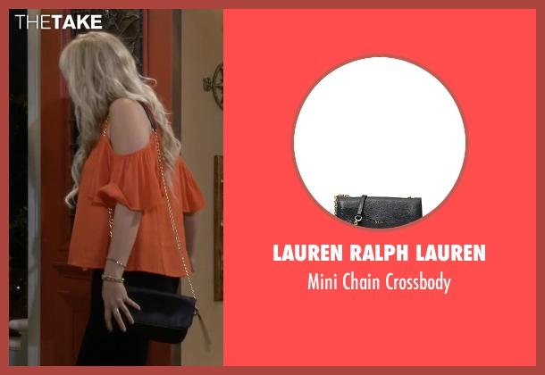 Lauren Ralph Lauren black crossbody from Fuller House seen with Stephanie Tanner (Jodie Sweetin)
