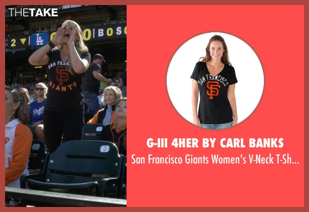 G-III 4her By Carl Banks  black t-shirt from Fuller House seen with Stephanie Tanner (Jodie Sweetin)