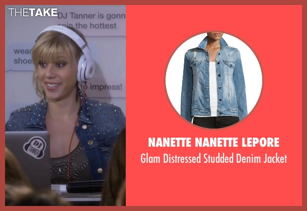 Nanette Nanette Lepore blue jacket from Fuller House seen with Stephanie Tanner (Jodie Sweetin)