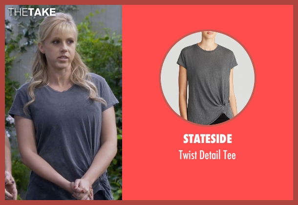 Stateside blue tee from Fuller House seen with Stephanie Tanner (Jodie Sweetin)