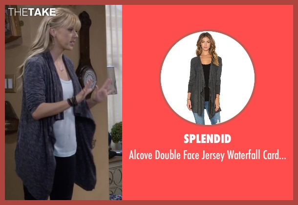 Splendid gray cardigan from Fuller House seen with Stephanie Tanner (Jodie Sweetin)