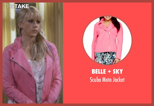 Belle + Sky pink jacket from Fuller House seen with Stephanie Tanner (Jodie Sweetin)