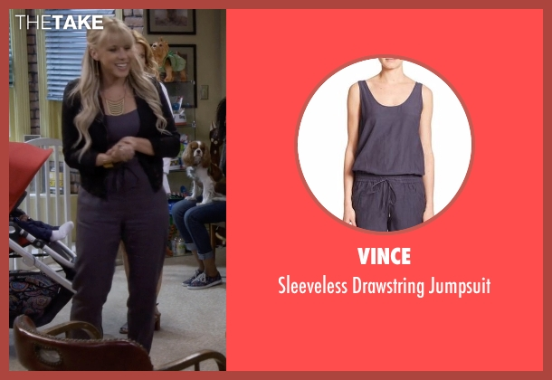 Vince  purple jumpsuit from Fuller House seen with Stephanie Tanner (Jodie Sweetin)
