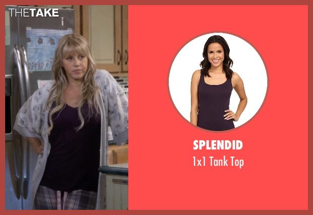 Splendid purple top from Fuller House seen with Stephanie Tanner (Jodie Sweetin)