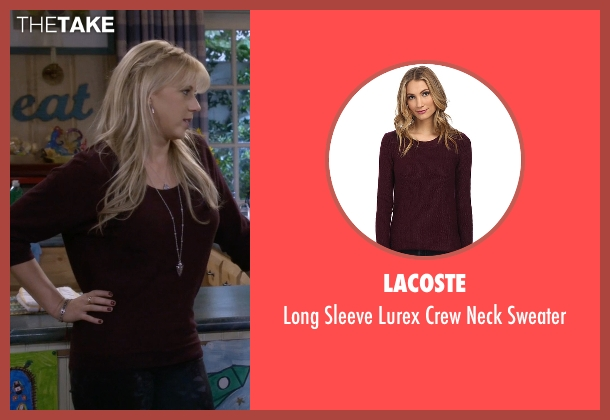 Lacoste red sweater from Fuller House seen with Stephanie Tanner (Jodie Sweetin)