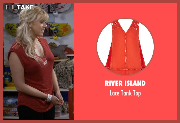 River Island red top from Fuller House seen with Stephanie Tanner (Jodie Sweetin)