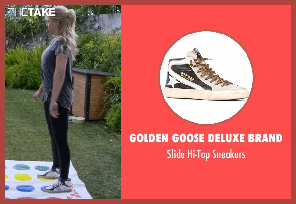 Golden Goose Deluxe Brand white sneakers from Fuller House seen with Stephanie Tanner (Jodie Sweetin)