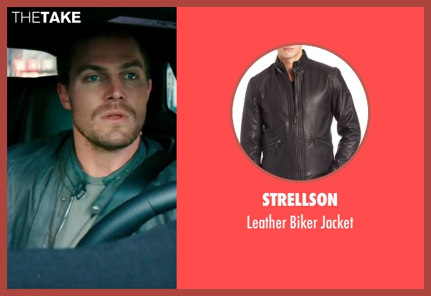 Strellson black jacket from Teenage Mutant Ninja Turtles: Out of the Shadows seen with Stephen Amell (Casey Jones)