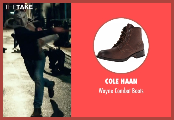 Cole Haan brown boots from Teenage Mutant Ninja Turtles: Out of the Shadows seen with Stephen Amell (Casey Jones)