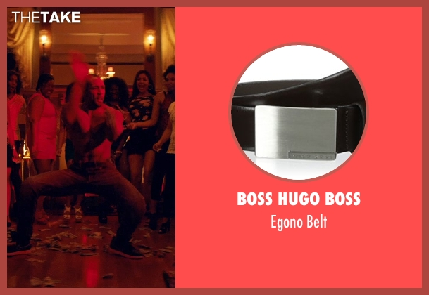 Boss Hugo Boss black belt from Magic Mike XXL seen with Stephen Boss (Unknown Character)