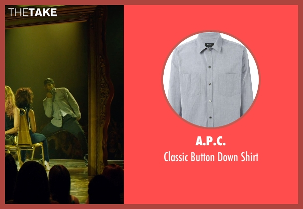 A.P.C. gray shirt from Magic Mike XXL seen with Stephen Boss (Unknown Character)