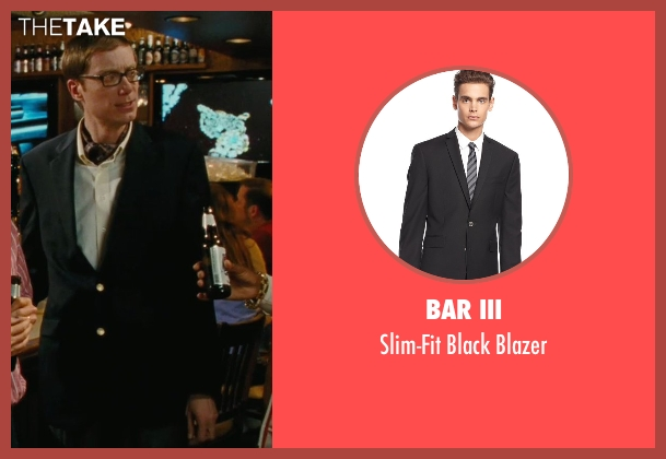 Bar III black blazer from Hall Pass seen with Stephen Merchant (Gary)
