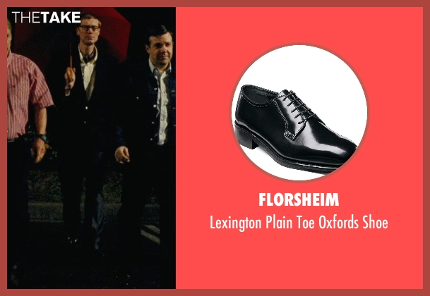 Florsheim black shoe from Hall Pass seen with Stephen Merchant (Gary)