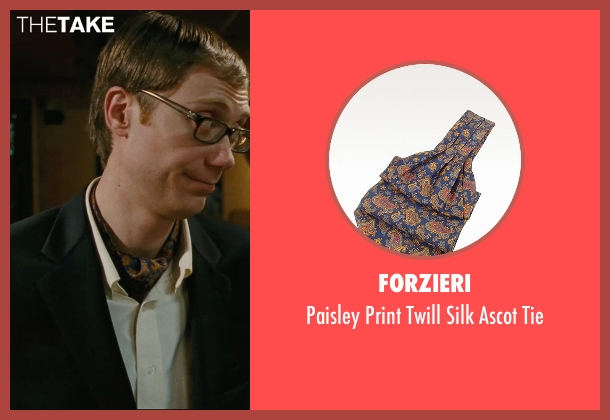 Forzieri blue tie from Hall Pass seen with Stephen Merchant (Gary)