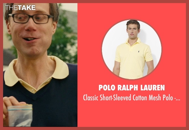 Polo Ralph Lauren yellow fit from Hall Pass seen with Stephen Merchant (Gary)