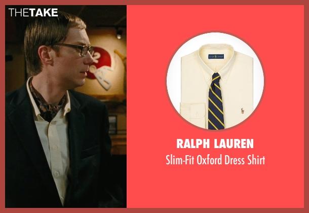 Ralph Lauren yellow shirt from Hall Pass seen with Stephen Merchant (Gary)