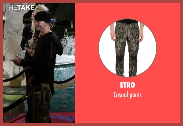 ETRO brown pants from Step Up: All In seen with Stephen Stevo Jones (Jasper Tarik)
