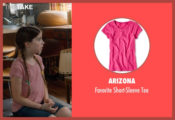 Arizona red tee from And So It Goes seen with Sterling Jerins (Sarah)