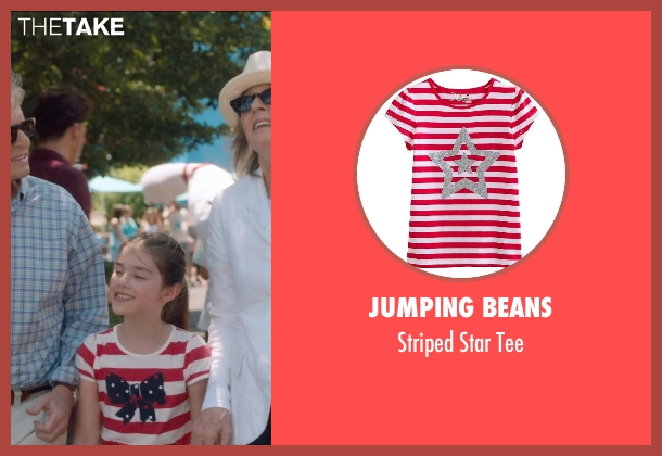 Jumping Beans red tee from And So It Goes seen with Sterling Jerins (Sarah)