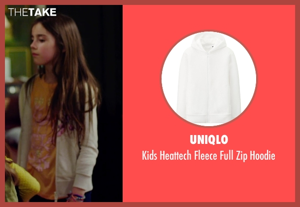 Uniqlo white hoodie from No Escape seen with Sterling Jerins (Lucy Dwyer)