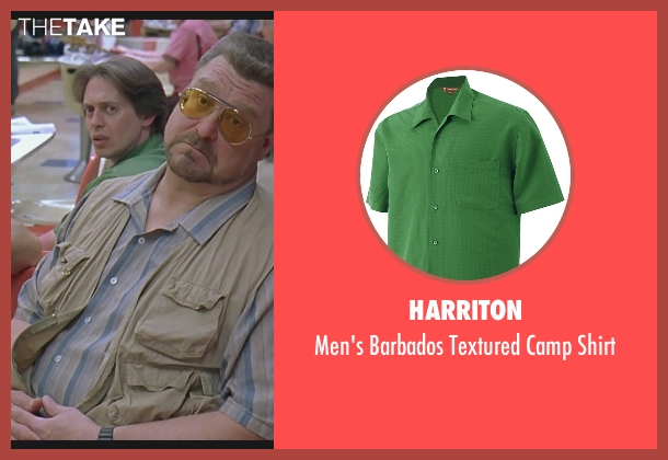 Harriton green shirt from The Big Lebowski seen with Steve Buscemi (Theodore Donald 'Donny' Kerabatsos)