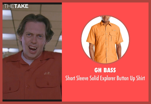 GH Bass orange shirt from The Big Lebowski seen with Steve Buscemi (Theodore Donald 'Donny' Kerabatsos)