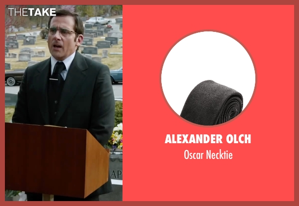 Alexander Olch black necktie from Anchorman 2: The Legend Continues seen with Steve Carell (Brick Tamland)