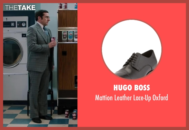 Hugo Boss black oxford from Anchorman 2: The Legend Continues seen with Steve Carell (Brick Tamland)