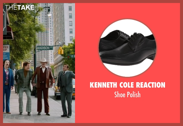 Kenneth Cole Reaction black polish from Anchorman 2: The Legend Continues seen with Steve Carell (Brick Tamland)