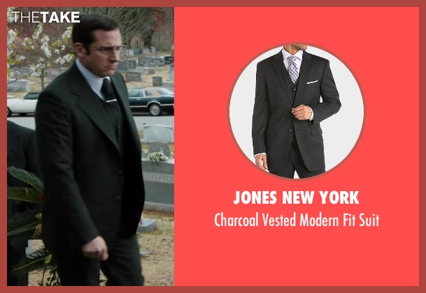 Jones New York black suit from Anchorman 2: The Legend Continues seen with Steve Carell (Brick Tamland)