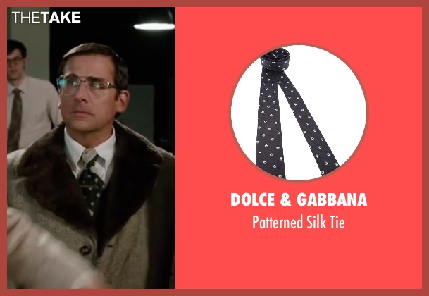 Dolce & Gabbana black tie from Anchorman 2: The Legend Continues seen with Steve Carell (Brick Tamland)
