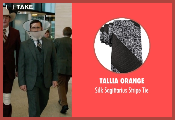 Tallia Orange black tie from Anchorman 2: The Legend Continues seen with Steve Carell (Brick Tamland)